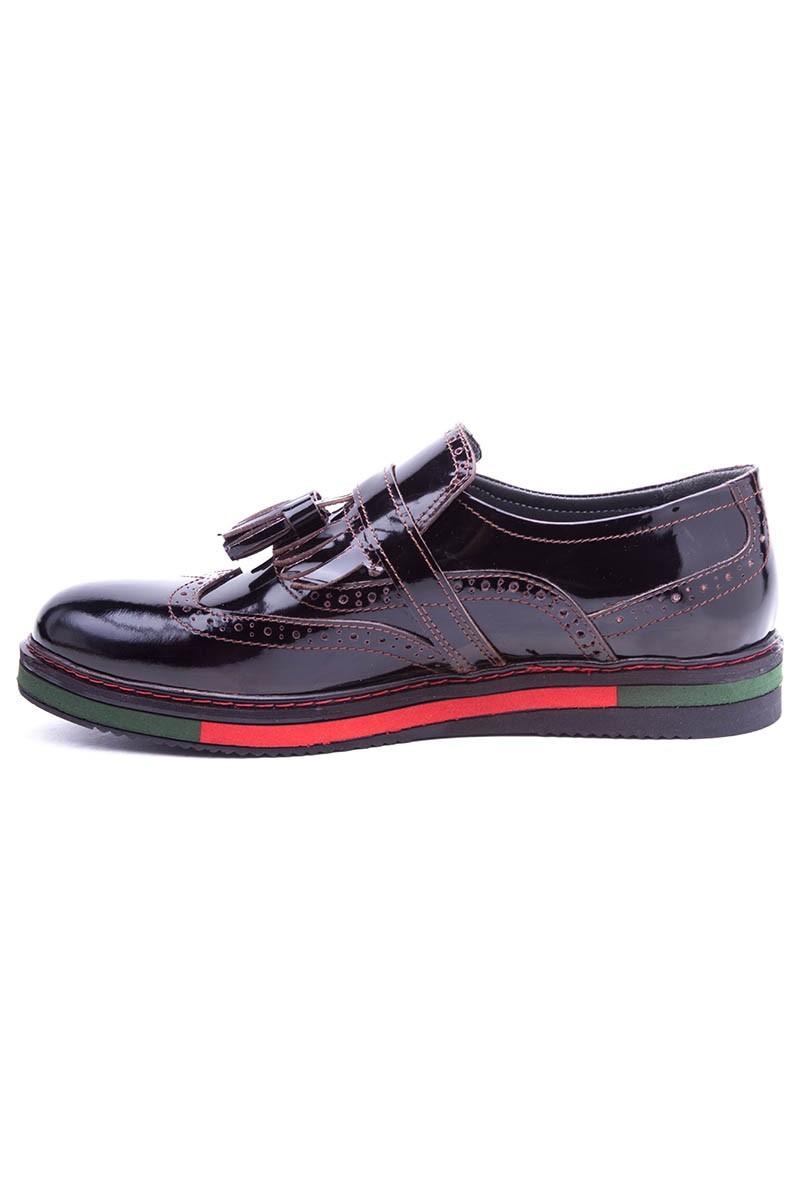 BLUESOIL Kahverengi BS-20-34 Hakiki Deri Erkek Ayakkabı