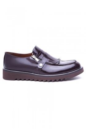 Wenetti Kahverengi WNT-2016 Hakiki Deri Erkek Ayakkabı
