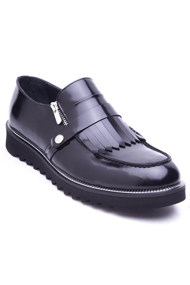 BLUESOIL Siyah BS-2016 Hakiki Deri Erkek Ayakkabı