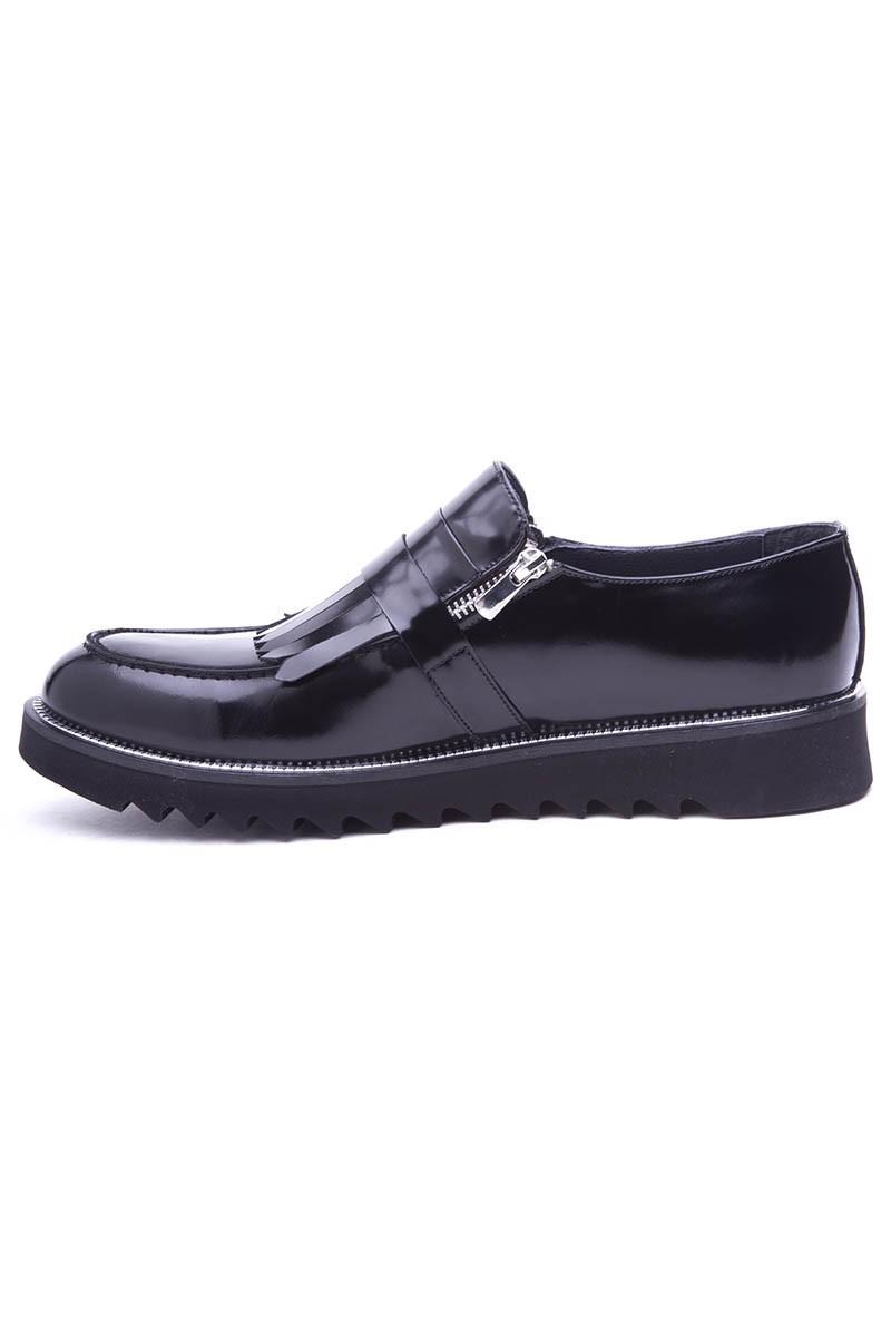 BLUESOIL Siyah WNT-2016 Hakiki Deri Erkek Ayakkabı