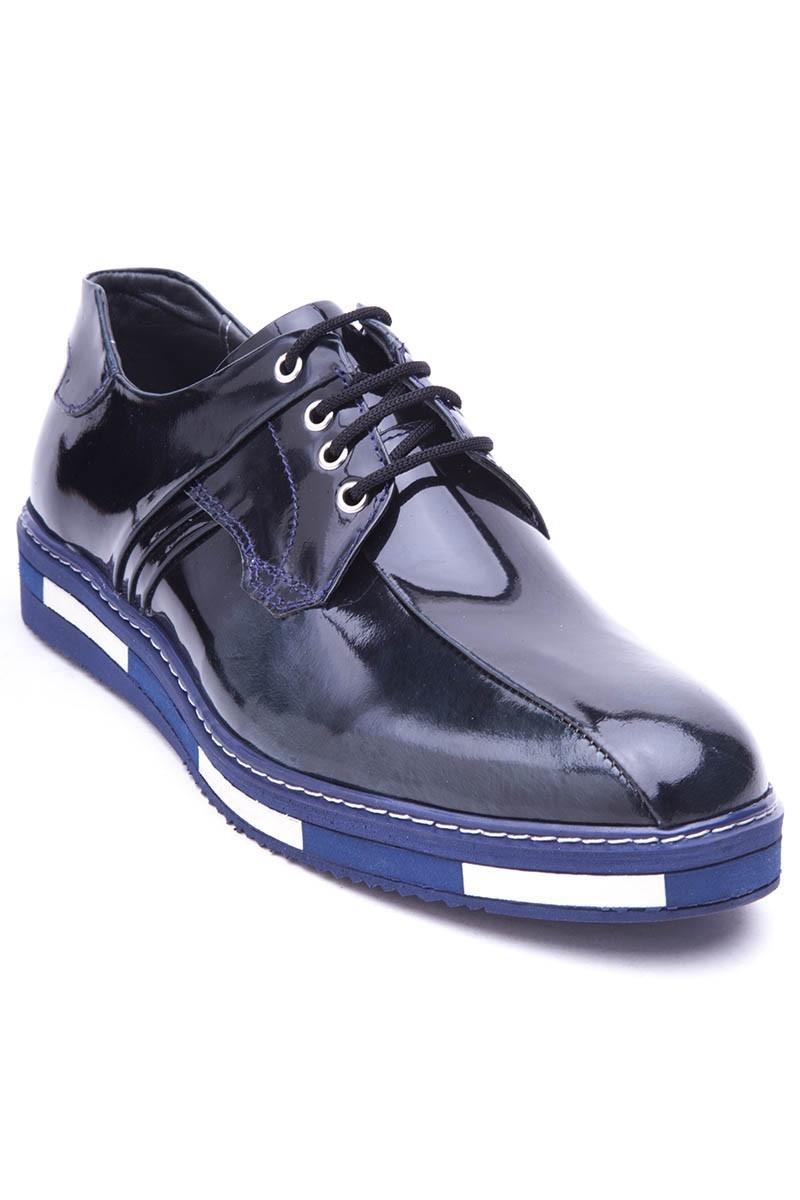 BLUESOIL Siyah-Yeşil BS-20-22-ACMA Hakiki Deri Erkek Ayakkabı