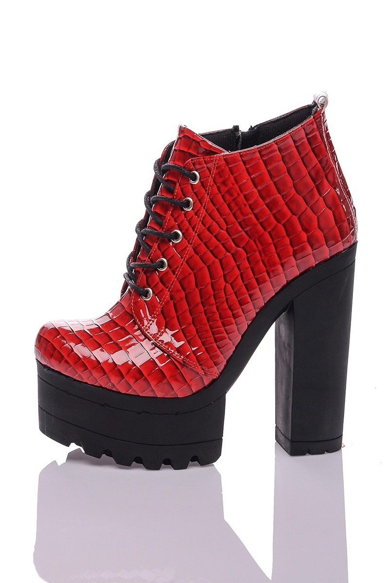Diensi Kırmızı SI-111114-K Bayan Bot