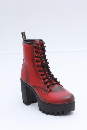 Diensi Kırmızı SI-101203-K Bayan Bot