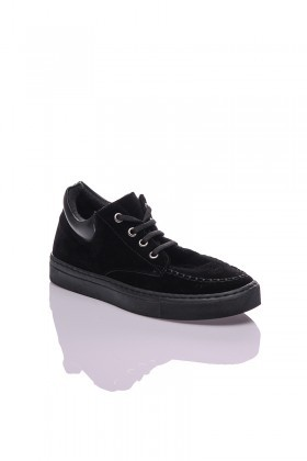 Diensi Siyah SI-104102-SUET Bayan Ayakkabı