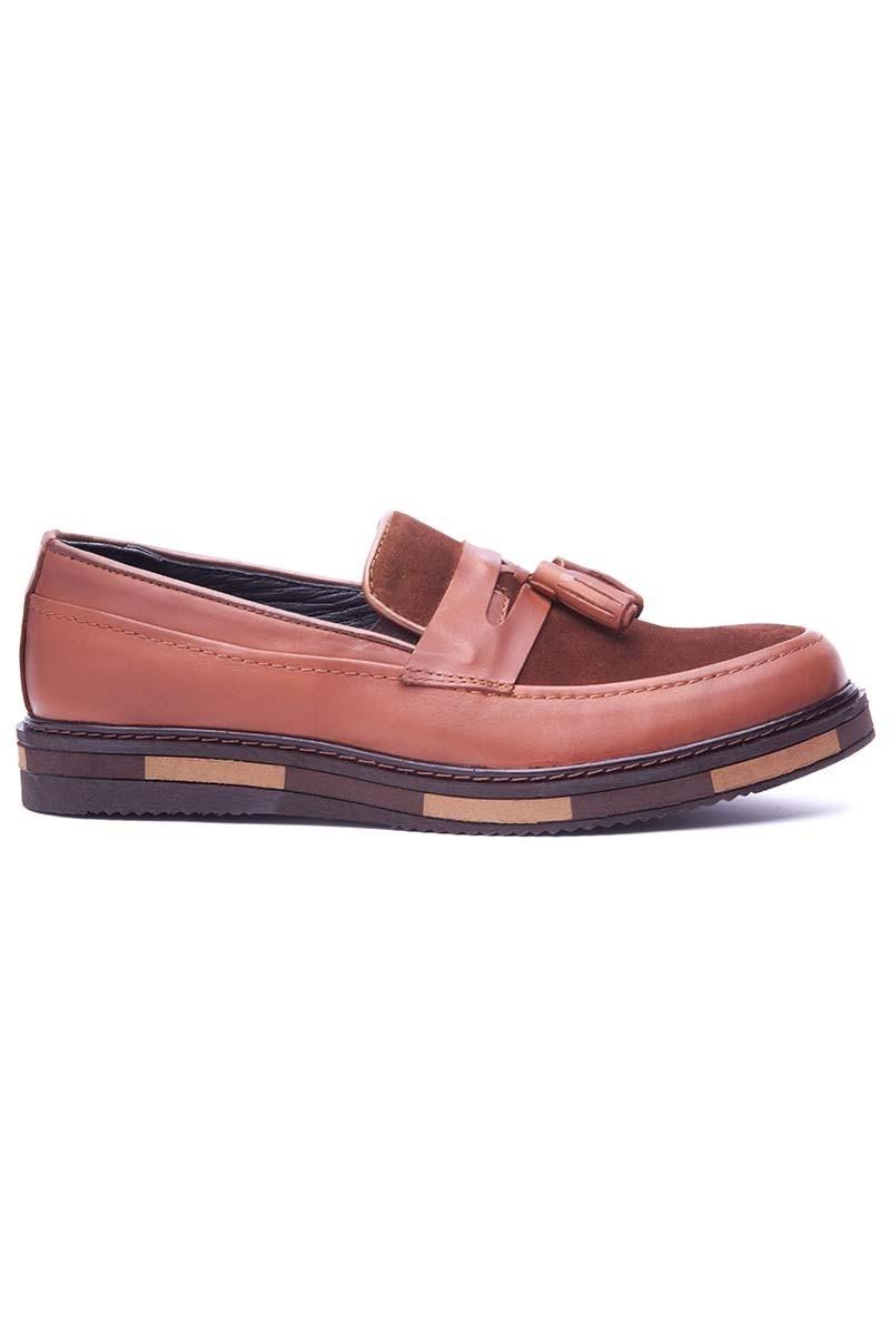 BLUESOIL Taba BS-20-24-SUET Hakiki Deri Erkek Ayakkabı