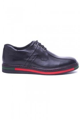 BLUESOIL Siyah BS-20-22-MAT Hakiki Deri Erkek Ayakkabı