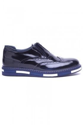 BLUESOIL Lacivert BS-20-28 Hakiki Deri Erkek Ayakkabı
