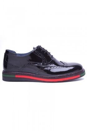 BLUESOIL Siyah BS-20-32 Hakiki Deri Erkek Ayakkabı
