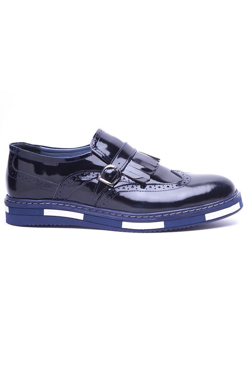 BLUESOIL Lacivert BS-20-34 Hakiki Deri Erkek Ayakkabı