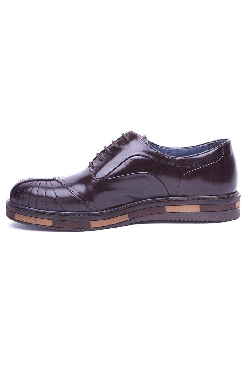 BLUESOIL Kahverengi BS-20-27-KAHVE Hakiki Deri Erkek Ayakkabı