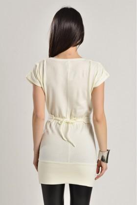 Yeni Elbisem Krem YE-7250A Bayan Body