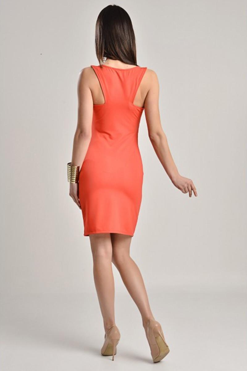 Yeni Elbisem Nar Çiçeği YE-7229 Bayan Elbise