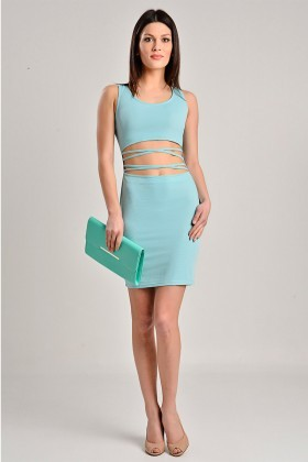 Yeni Elbisem Gök Mavi YEE-6987 Bayan Elbise