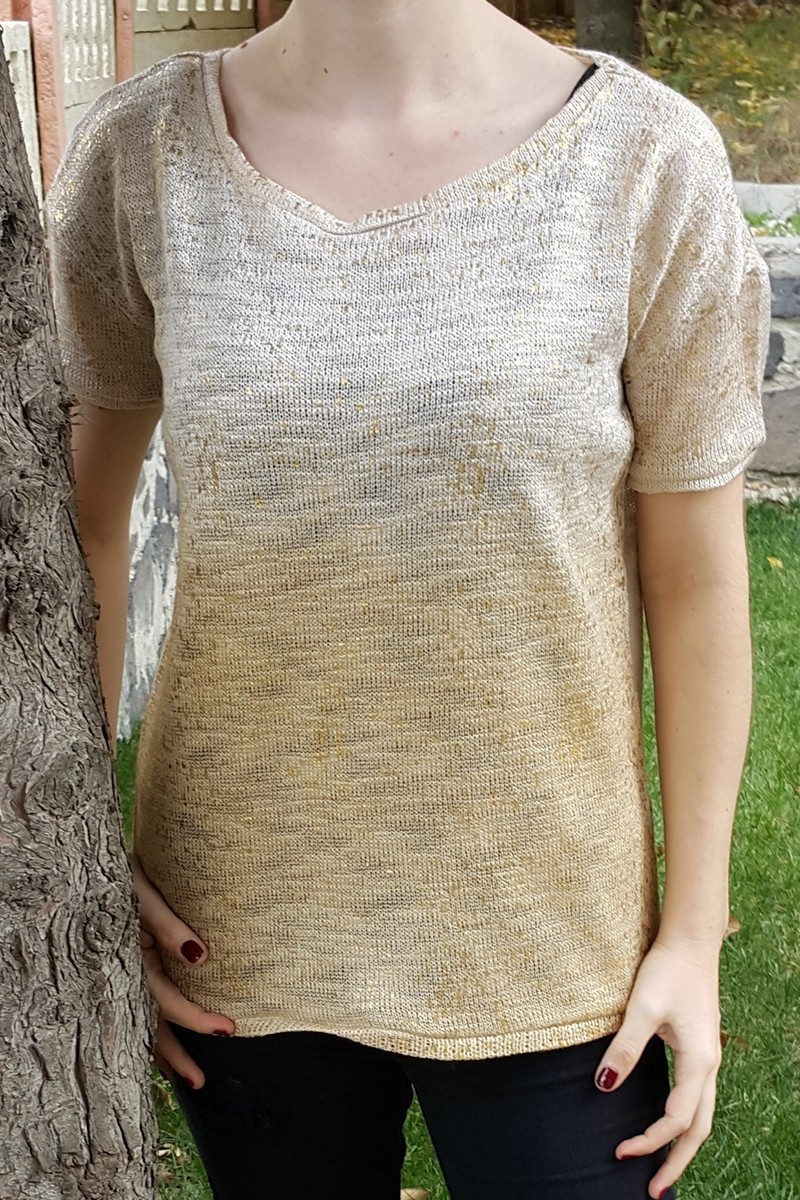 Yeni Elbisem Bej YE-6779 Bayan Triko