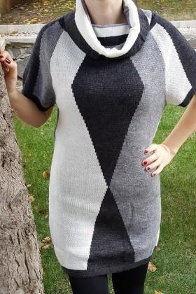 Yeni Elbisem Bej YE-6760 Bayan Kazak