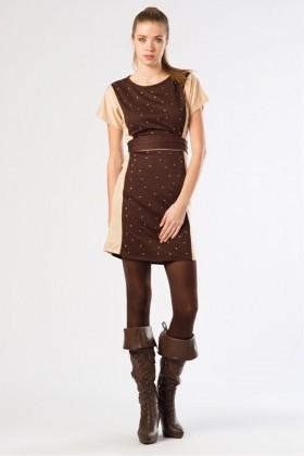 Yeni Elbisem Bej YE-12K010B Bayan Elbise