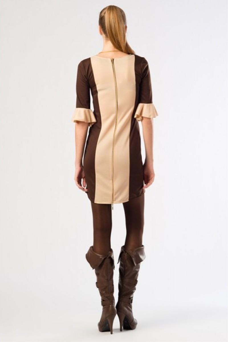 Yeni Elbisem Kahverengi YE-12K008K Bayan Elbise
