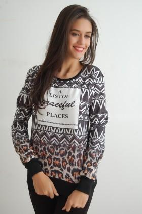 Yeni Elbisem Karışık Renkli YEE-9823 Bayan Sweat