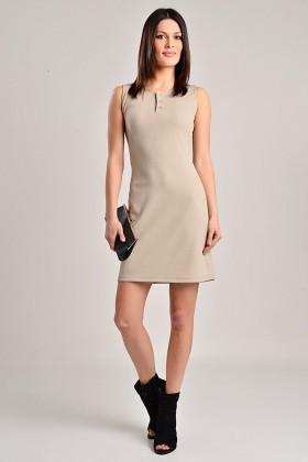 Yeni Elbisem Bej Ü-7234 Bayan Elbise