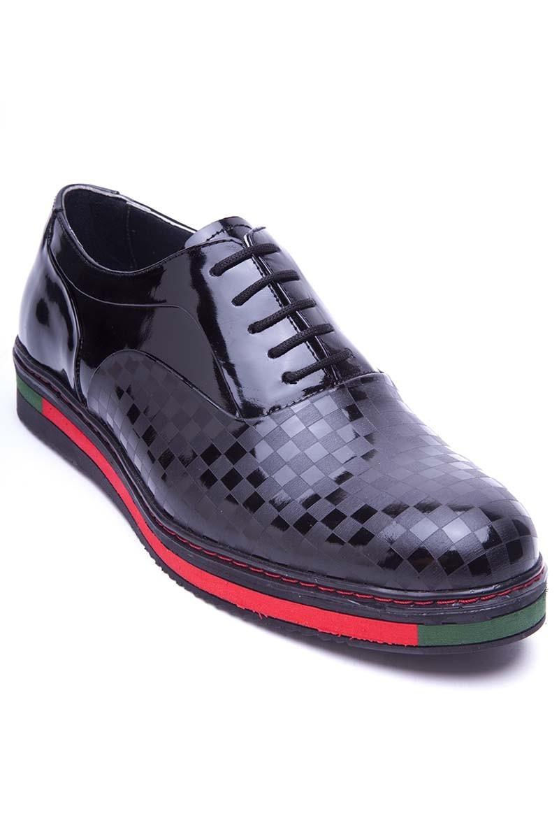 BLUESOIL Siyah BS-20-26-KARELI Hakiki Deri Erkek Ayakkabı