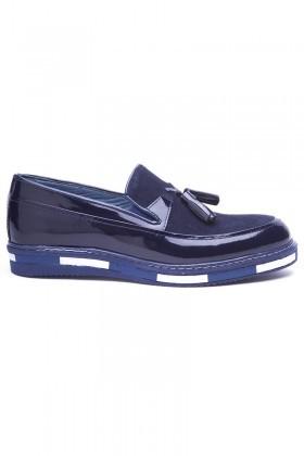 BLUESOIL Lacivert BS-20-24-SUET Hakiki Deri Erkek Ayakkabı