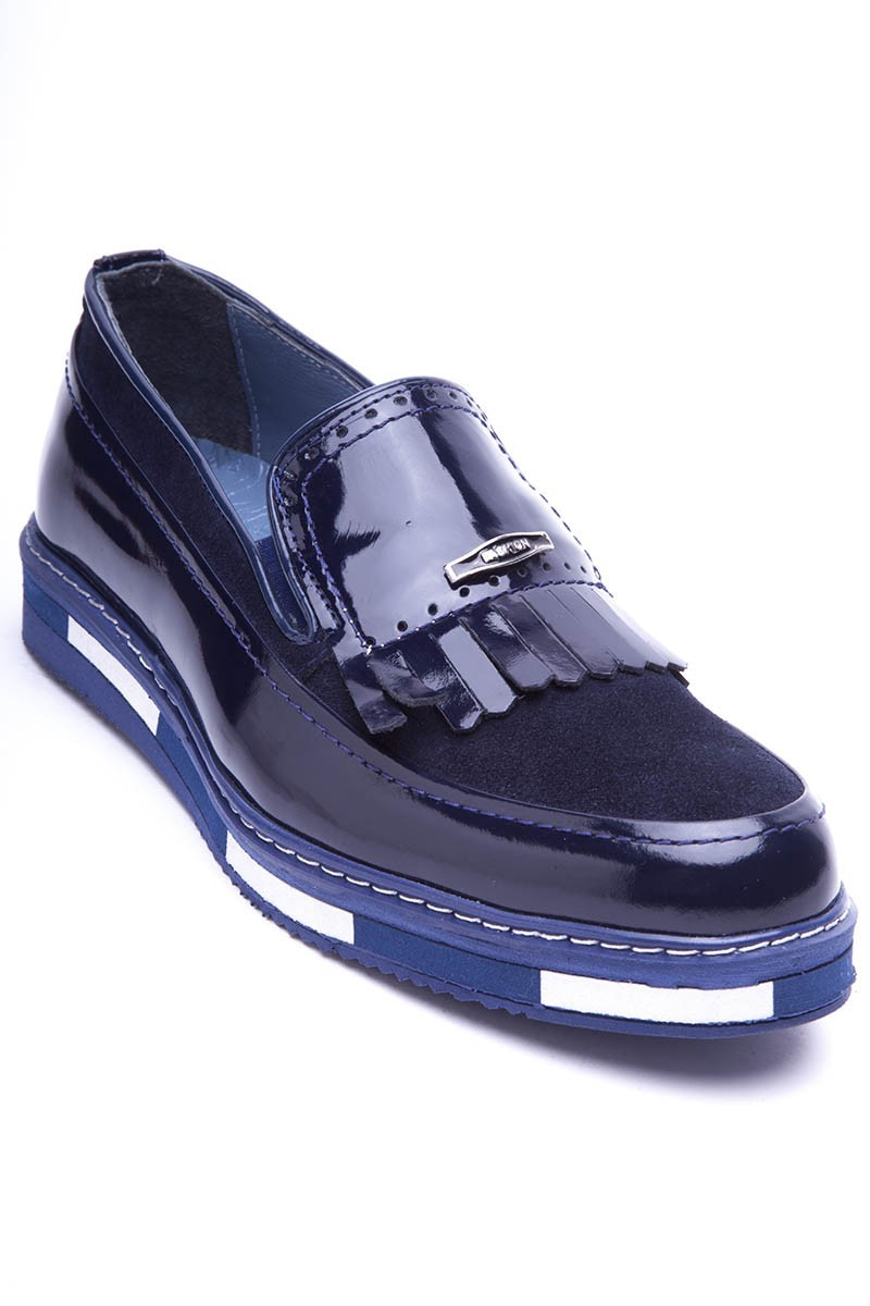 BLUESOIL Lacivert BS-20-40 Hakiki Deri Erkek Ayakkabı
