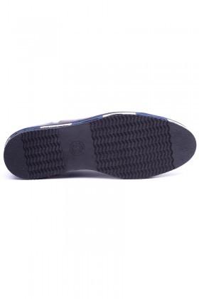BLUESOIL Lacivert-Bordo BS-20-26 Hakiki Deri Erkek Ayakkabı