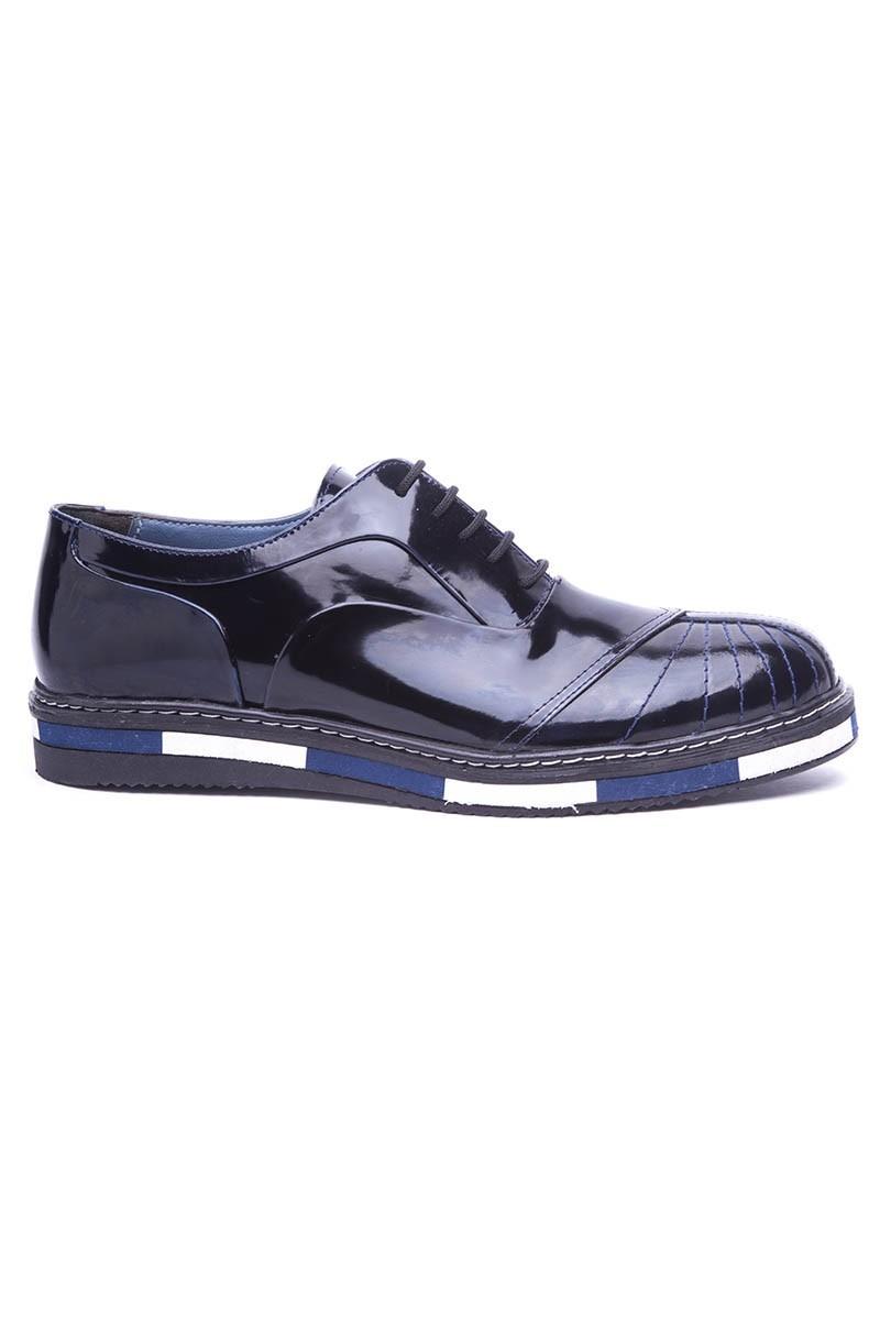 BLUESOIL Koyu Lacivert BS-20-27 Hakiki Deri Erkek Ayakkabı