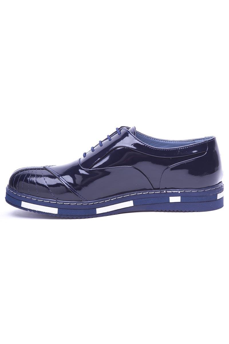 BLUESOIL Koyu Mavi BS-20-27 Hakiki Deri Erkek Ayakkabı