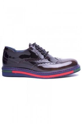 BLUESOIL Kahverengi BS-20-32-ACMA Hakiki Deri Erkek Ayakkabı