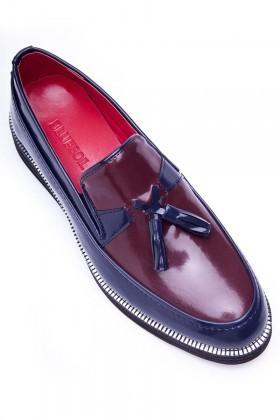BLUESOIL Lacivert-Bordo BS-20-043 Erkek Ayakkabı