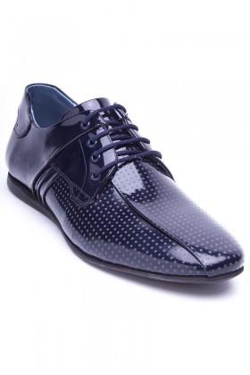 BLUESOIL Lacivert BS-20-20 Hakiki Deri Erkek Ayakkabı