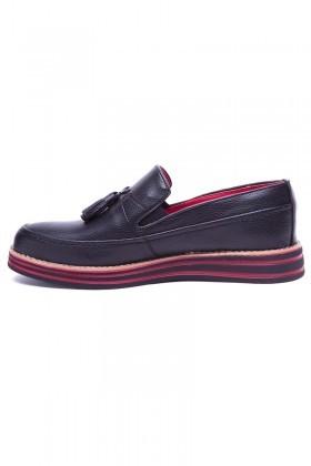 BLUESOIL Siyah BS-20-012-DERI Erkek Ayakkabı