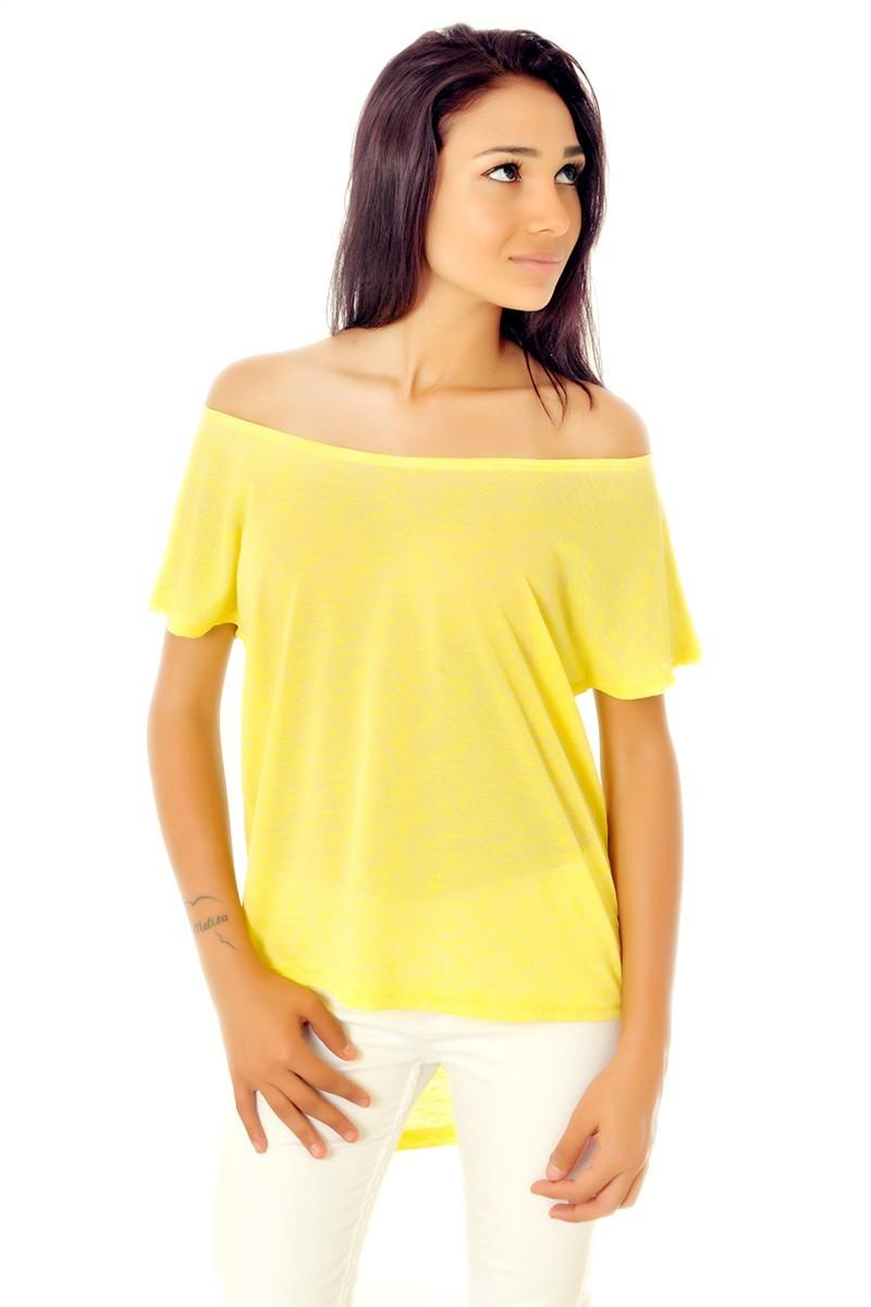 Yeni Elbisem Sarı YE-9303 Bayan Bluz
