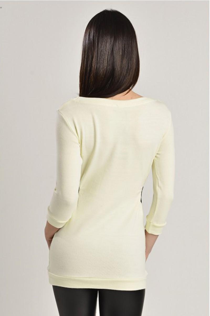 Yeni Elbisem Krem YE-7251 Bayan Bluz