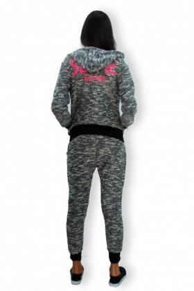 Yeni Elbisem Gri YEE-4573 Bayan Eşofman Takımı