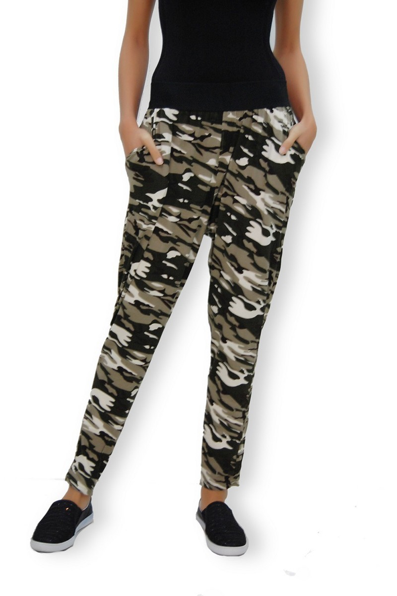 Yeni Elbisem Siyah-Beyaz Ü-1083 Bayan Pantolon