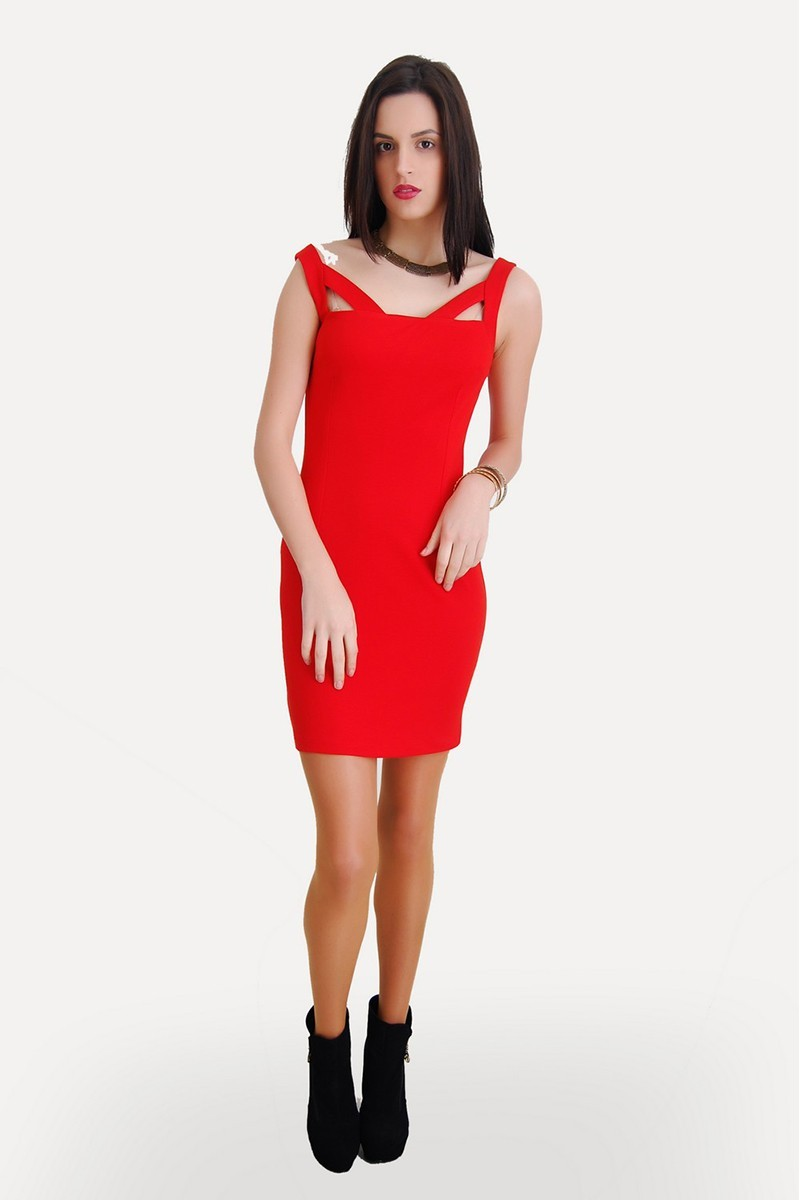 Yeni Elbisem Kırmızı Ü-5243 Bayan Elbise
