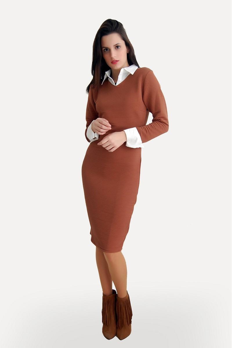 Yeni Elbisem Siyah Ü-5228 Bayan Elbise