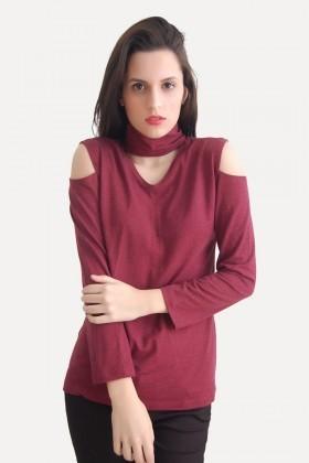 Yeni Elbisem Bordo Ü-5200 Bayan Bluz