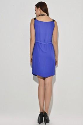 Yeni Elbisem Mavi YE-6996 Bayan Elbise