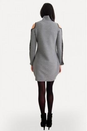 Yeni Elbisem Gri Ü-5113 Bayan Tunik