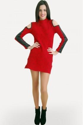 Yeni Elbisem Kırmızı Ü-5110 Bayan Tunik