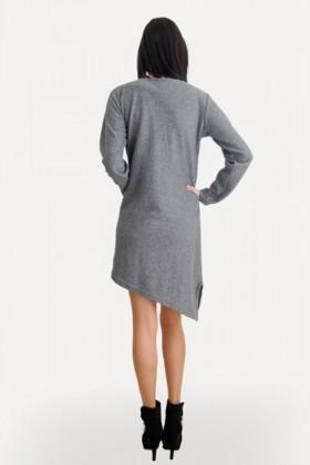 Yeni Elbisem Gri Ü-5105 Bayan Tunik