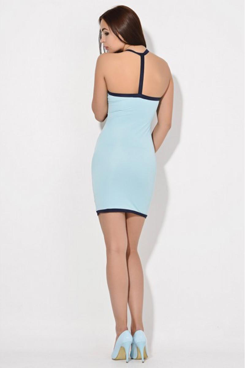 Yeni Elbisem Gök Mavi YE-6576 Bayan Elbise