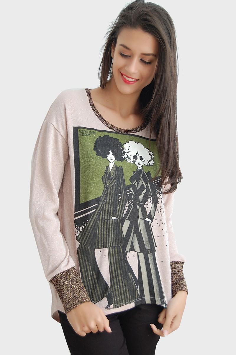 Yeni Elbisem Karışık Renkli YE-4596 Bayan Bluz