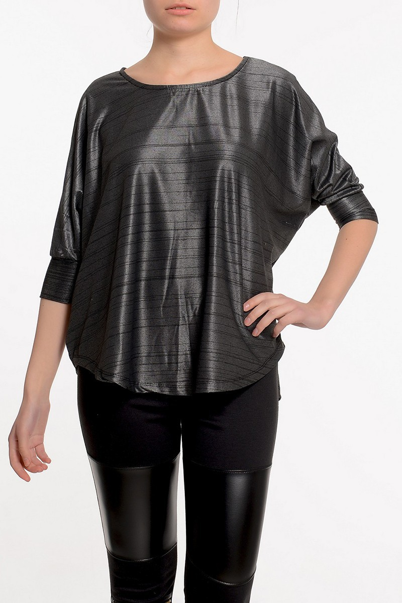 Yeni Elbisem Gri Ü-1531 Bayan Tunik