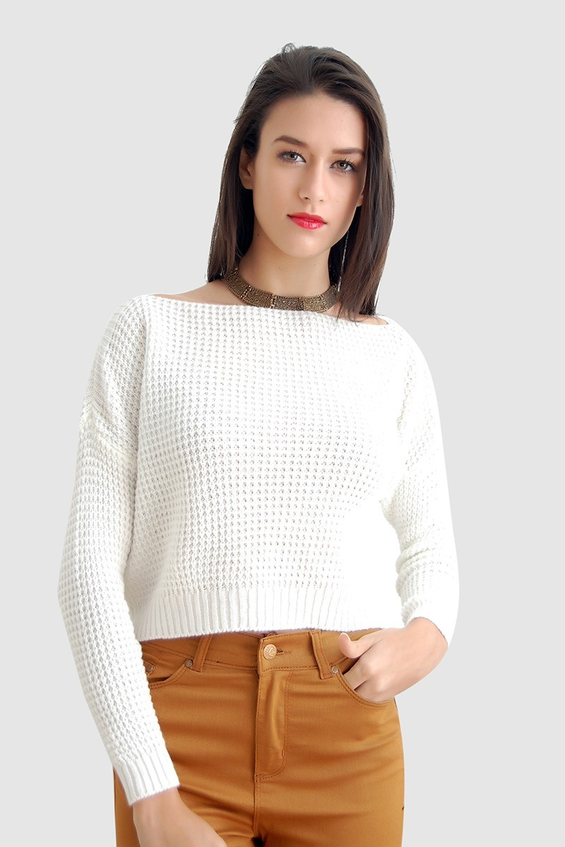 Yeni Elbisem Beyaz YE-2245A Bayan Kazak