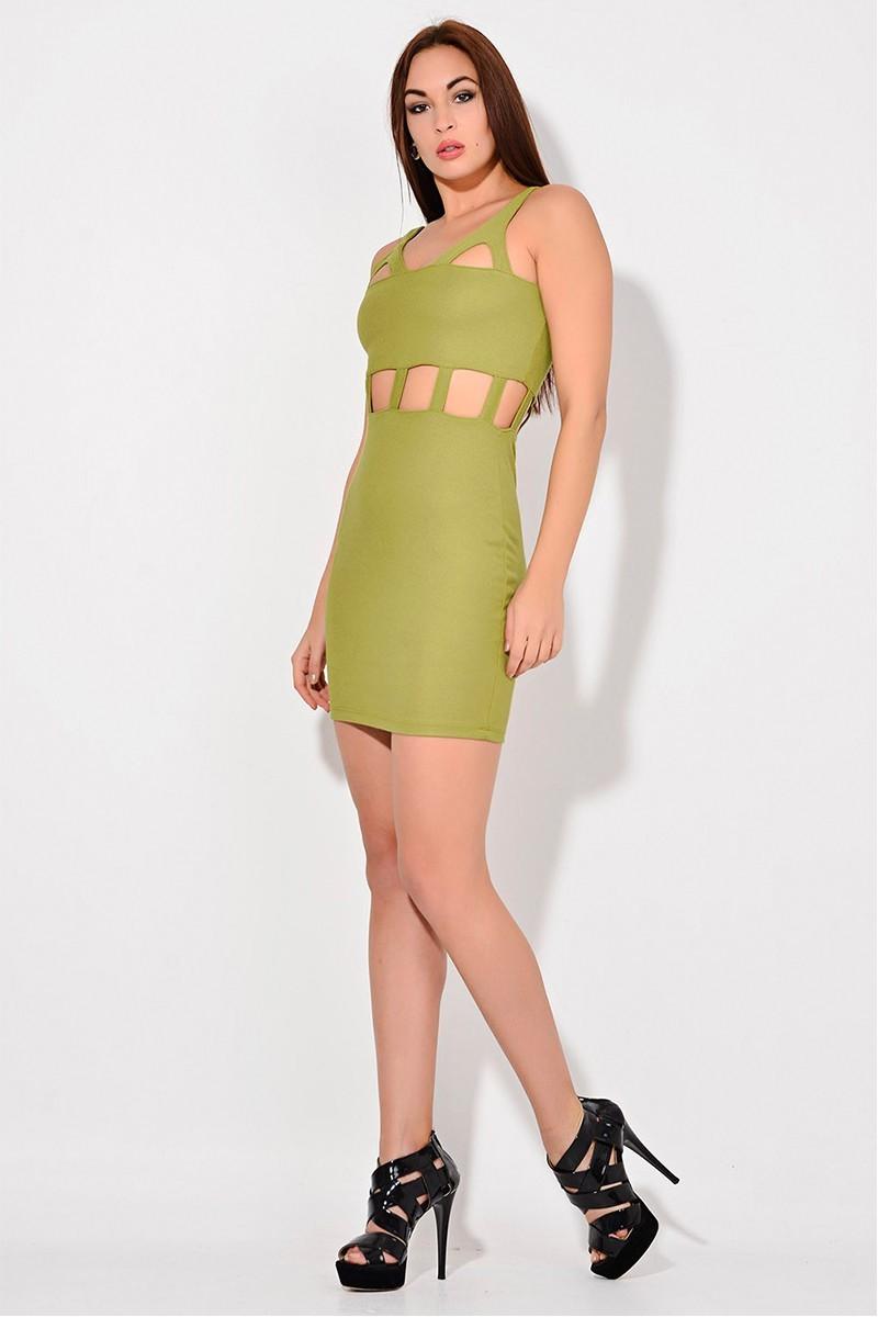 Yeni Elbisem Fıstık Yeşili Ü-2078 Bayan Elbise