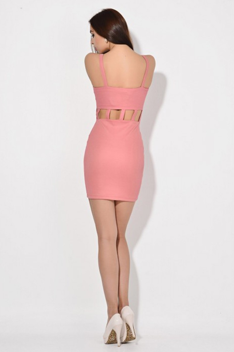 Yeni Elbisem Pembe Ü-2081 Bayan Elbise